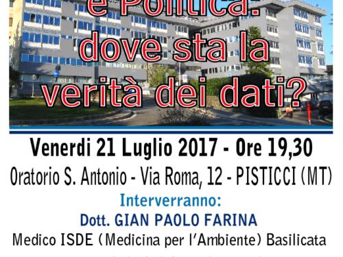 Registro tumori lucano e politica (pubblico incontro)
