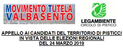 """Appello """"ambientale"""" ai candidati pisticcesi per le elezioni regionali 2019"""