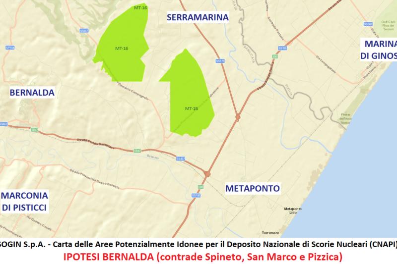 MTV ha inviato a Sogin le Osservazioni di contrarietà ad un possibile Deposito nazionale di scorie nucleari a Bernalda o Montalbano